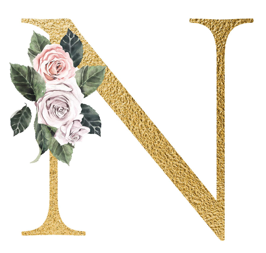 Gold Letter Nursery Prints : Nursery Letter Wall Art