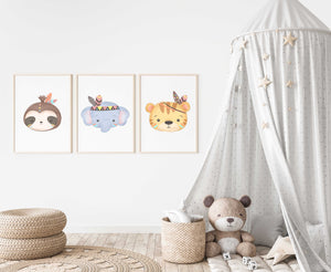 Cute Animal Nursery Set