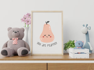 you are pearfect nursery decor