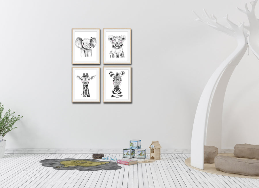 Animal Nursery Prints Set