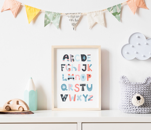 Alphabet Chart For Kids Room