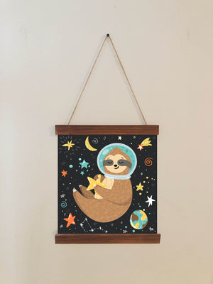 Sloth Nursery Wall Art Scroll