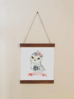 Owl Nursery Scroll