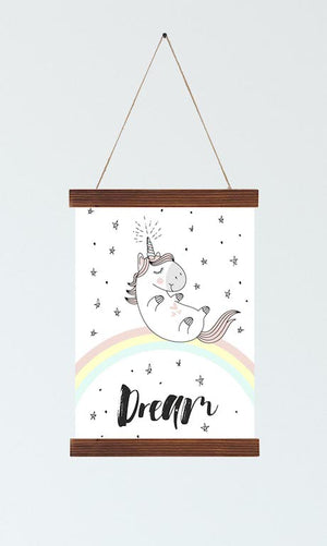 Unicorn Nursery Wall Art Scroll