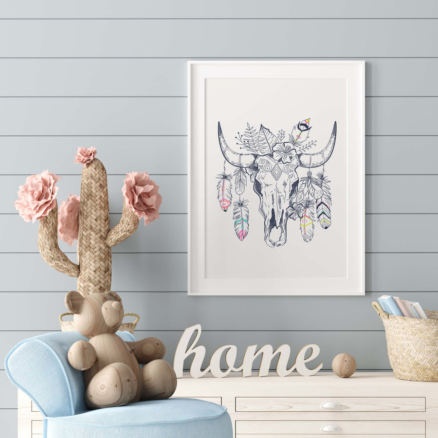 Boho Nursery Print : Digital Download