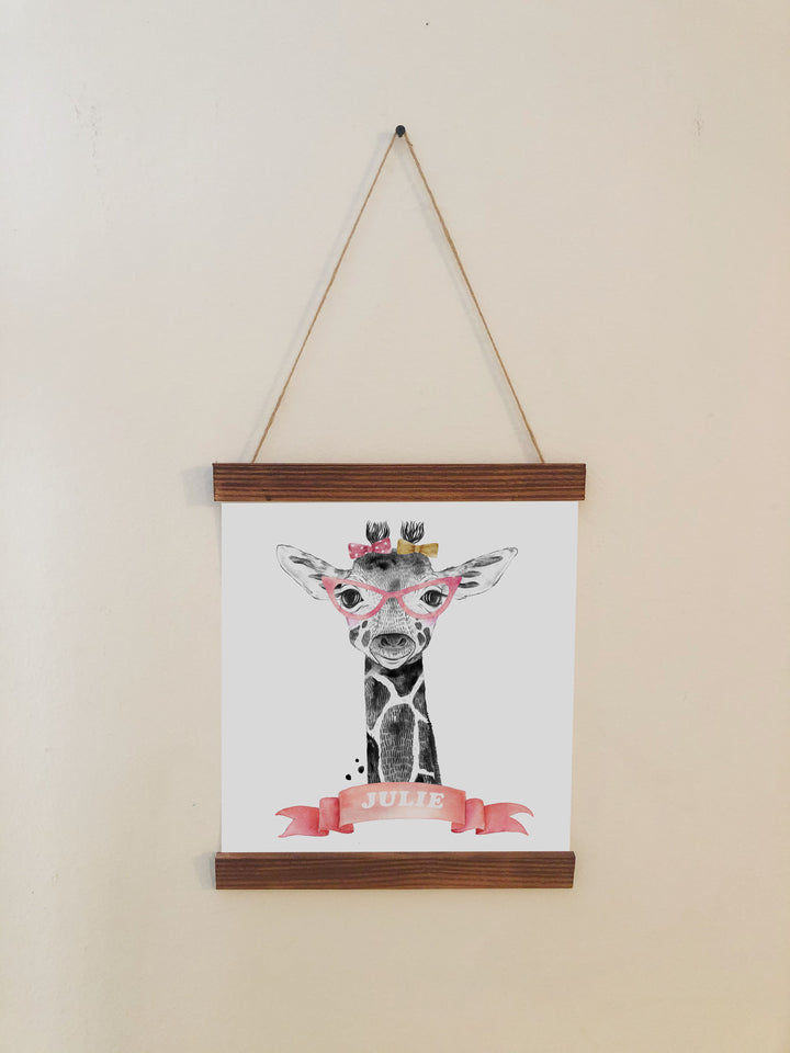 Giraffe Nursery Room Scroll Decor
