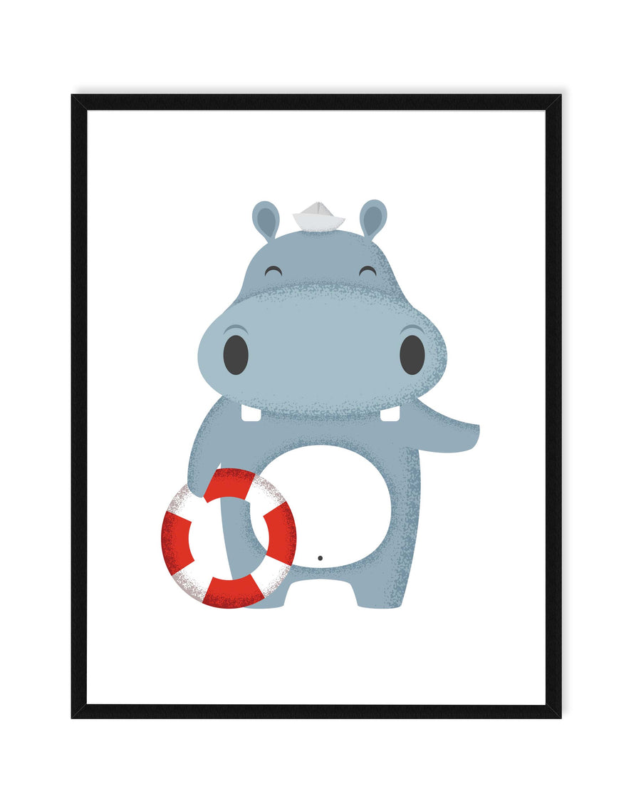 Hippo Sailor Nursery Decor