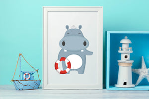 Hippo Nursery Decor