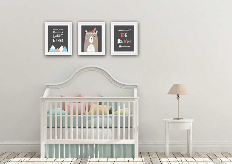 Be Brave 3 Piece Nursery Set