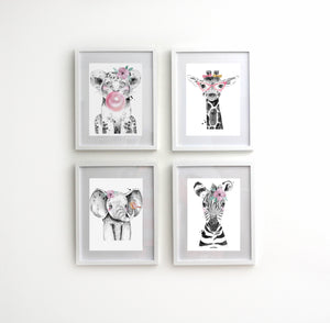 4 Piece Animal Nursery set