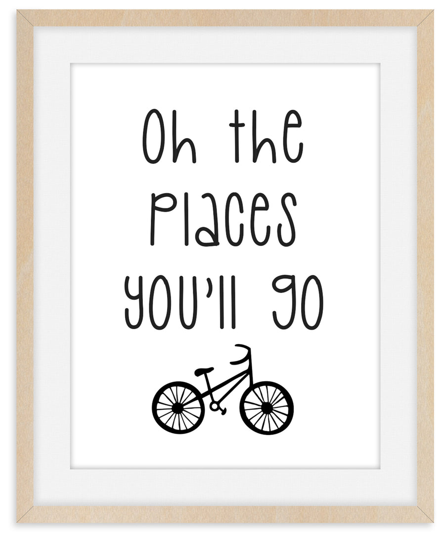 Oh The Places You'll Go - Framed Print