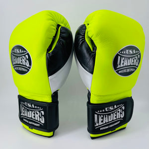 Elite Sparring Gloves (Neon Green/Silver/Black)