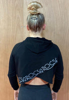 Black Crossed back hoodie