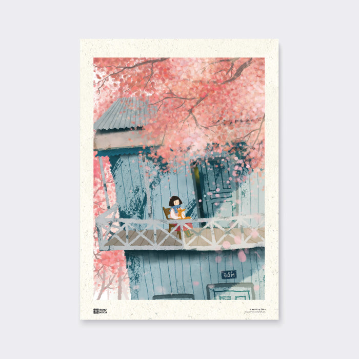 Poster Cherry Blossom by Dom Dom Illustration