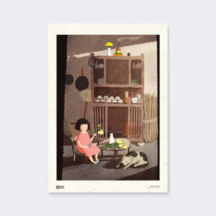 Poster Old Kitchen by Dom Illustration