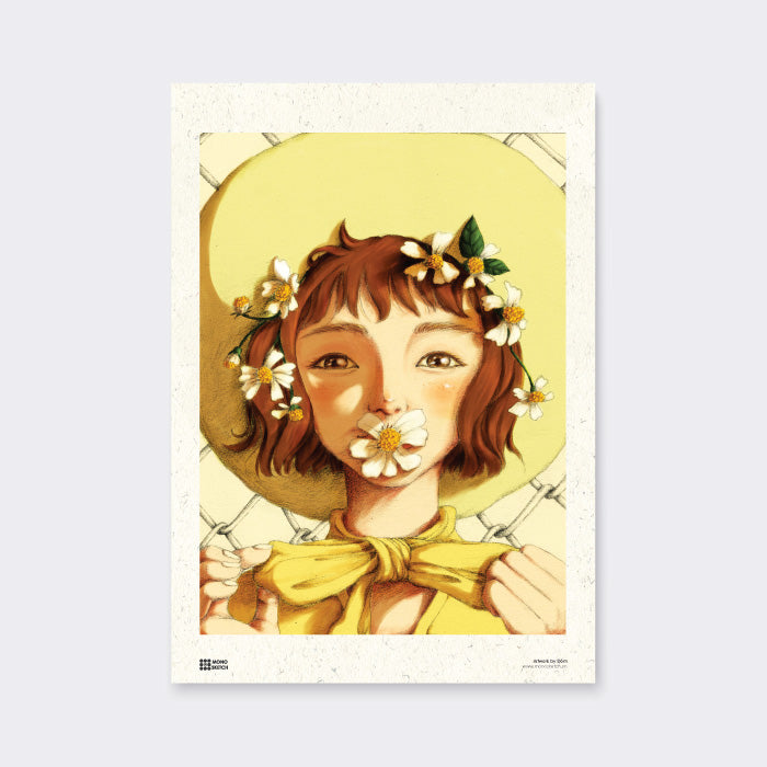 Poster Summer Daisy by Dom Illustration