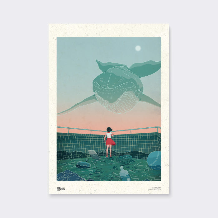 Poster Take Me To The Moon by Dom Illustration