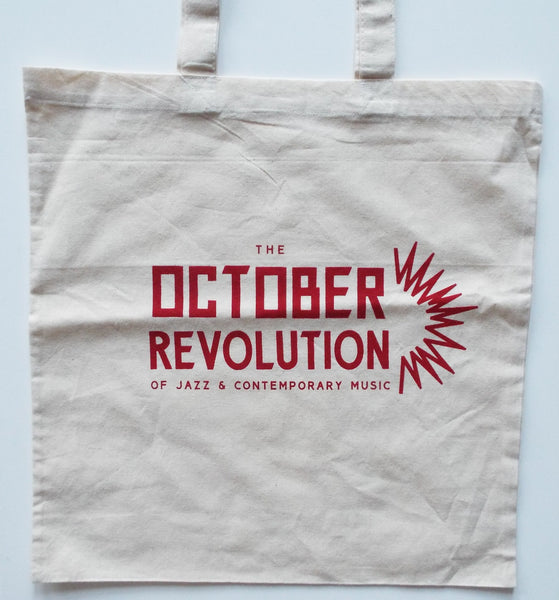 October Revolution Tote Bag (Red Text)