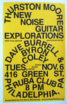 Thurston Moore New Noise Guitar Explorations Poster