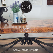Coffee tables for Elegant Living Room- Hammer Copper  Rectangular Coffee Table