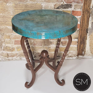 Bestseller Hammer Copper Small Occasional Table -Iron side table - Mexports® Inc by Susana Molina