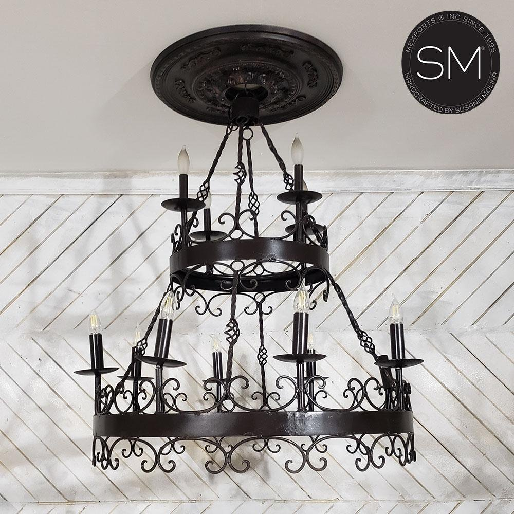 Chandelier Two Tier Model 1329 - Mexports® Inc by Susana Molina