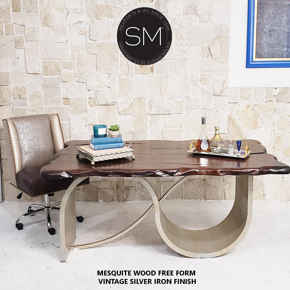 Conference - Desk Mesquite Wood - Mexports® Inc by Susana Molina