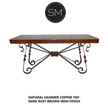 High End Western Console Table - Entryway Table Hammered Copper top.-Mexports By Susana Molina-Mexports® Inc by Susana Molina