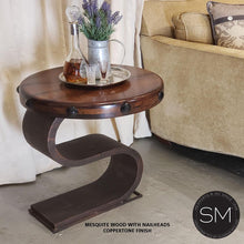 Contemporary and Modern Mesquite Wood Side & End Table - Mexports® Inc by Susana Molina