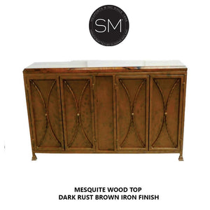 Contemporary Mesquite Wood Buffet Cabinet - Mexports® Inc by Susana Molina