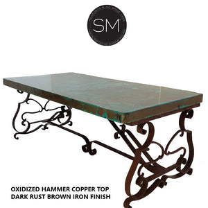 Hammer Copper Wrought Iron Desk Model 1206 R