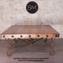 Elegant and Timeless Hammer Copper Square Table-Mexports By Susana Molina-Mexports® Inc by Susana Molina