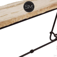 Elegant Console Table with a premier quality Natural Travertine stone top - Mexports® Inc by Susana Molina