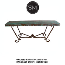 Hammer Copper Console Large Model 1211 C - Mexports® Inc by Susana Molina