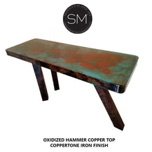 Hammer Copper Contemporary Console Model 1254 C - Mexports® Inc by Susana Molina