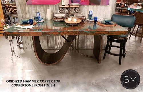 Luxury Hammer Copper Contemporary Kitchen Island-Mexports By Susana Molina -Mexports® Inc by Susana Molina