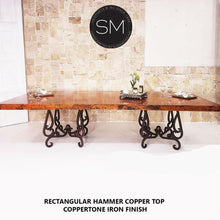 Hammer Copper Double Pedestal Dining Table - Luxury Modern Iron-Mexports By Susana Molina-Mexports® Inc by Susana Molina