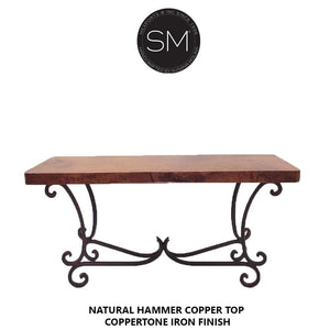 Hammer Copper Large Console Model 1215 C - Mexports® Inc by Susana Molina