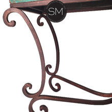 Large Console- Sofa &Entry way table made of Hammered Copper-Mexports By Susana Molina-Mexports® Inc by Susana Molina
