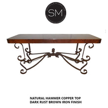 Hammer Copper Large Console Model 1237 C - Mexports® Inc by Susana Molina