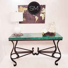 "Entryway made of Hammer Copper- Large Console table-Console tables - Entryway tables-Mexports By Susana Molina-59"" x 19""-Oxidized Copper-Coppertone-Mexports® Inc by Susana Molina"