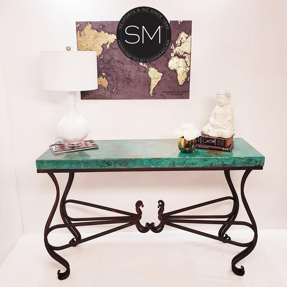 Entryway made of Hammer Copper- Large Console table-Console tables - Entryway tables-Mexports By Susana Molina-59