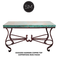 "Entryway made of Hammer Copper- Large Console table-Console tables - Entryway tables-Mexports By Susana Molina-59"" x 19""-Natural Copper-Dark Rust Brown-Mexports® Inc by Susana Molina"