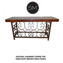 Copper Console table -Vintage wrought iron console tables-Mexports By Susana Molina-Mexports® Inc by Susana Molina