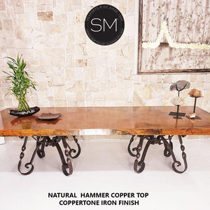 Hammer Copper -Luxury Modern Desk-Conference Table-Mexports By Susana Molina-Mexports® Inc by Susana Molina