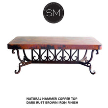 Hammer Copper Rectangular Coffee Table Model 1213 AA - Mexports® Inc by Susana Molina