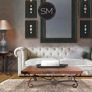 Hammer Copper Rectangular Coffee Table Model 1215 AA - Mexports® Inc by Susana Molina