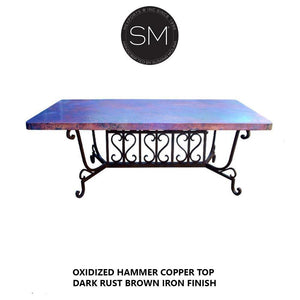 Hammer Copper Rectangular Dining Table Model 1213 R - Mexports® Inc by Susana Molina