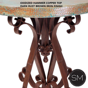 Bistro - Pub table Hammer Copper top-Mexports By Susana Molina-Mexports® Inc by Susana Molina