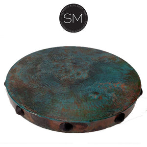 Hammer Copper Round Coffee Table Model 1212 AAA - Mexports® Inc by Susana Molina